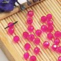Beads, Selenial Crystal, Crystal, Magenta , Faceted Rounds, Diameter 4mm, 10 Beads, [ZZC226]